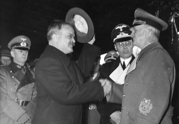 Vyacheslav Molotov, the Soviet Prime Minister during his visit to Nazi Germany in November 1940.